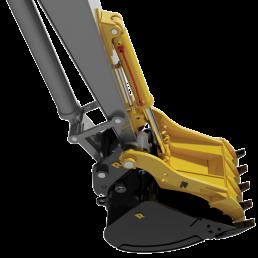 Rockland Pin Mounted Excavator Thumb, Bucket, and Coupler combination